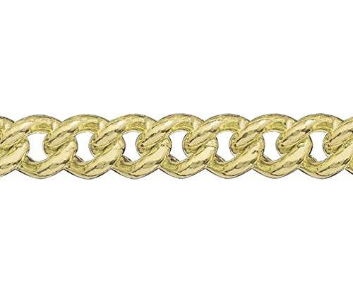 9ct or jaune Gourmette Bracelet 19,1cm/19cm