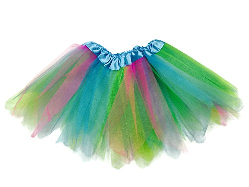 Toddler Costumes Ireland - Rush Dance Angular Colorful Ballerina Dress-Up Princess Costume Recital Tutu (Blue & Pink & Lime)
