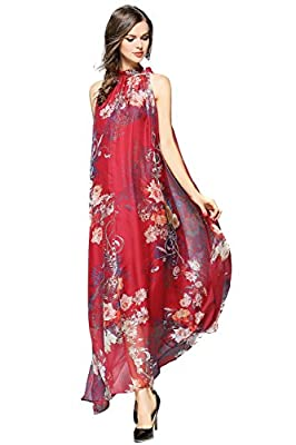 Joy EnvyLand Women Floral Evening Party Summer Casual Prom Loose Maxi Long Dress