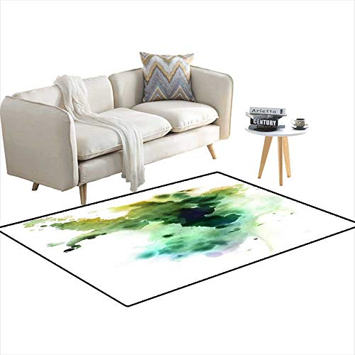 - Area Rugs for Bedroom Green Ink Splashes 4'x7'