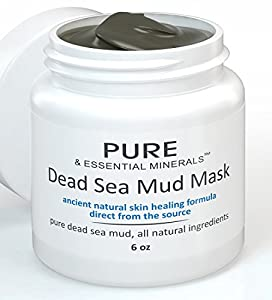 Dead Sea Mud Mask for Clear Skin, All Natural Organic, Hydrating, Exfoliating Facemask for Acne, Eczema, Blackheads, Facial Pore Minimizer, Anti Aging, Deep Cleanser Treatment, 6 ounces