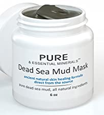BEST Dead Sea Mud Facial Mask + FREE BONUS EBOOK - Cleansing Acne & Pore Reducing Anti Aging Mask for Clear, Radiant Skin - 6 oz