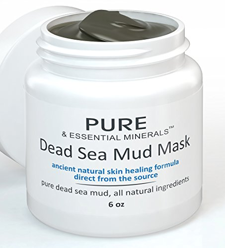 (Dead Sea Mud Mask for Clear Skin, All Natural Organic, Hydrating, Exfoliating Facemask for Acne, Eczema, Blackheads, Facial Pore Minimizer, Anti Aging, Deep Cleanser Treatment, 6 ounces)