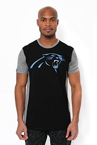 Carolina Panther Colors (Ultra Game Men's NFL T-Shirt Raglan Block Short Sleeve Tee Shirt, Carolina Panthers, Team Color,)