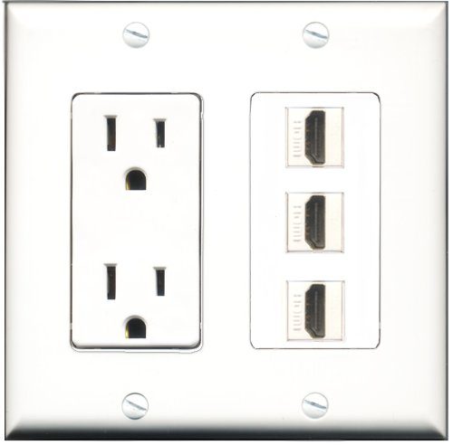 RiteAV Power Outlet Decora Plate