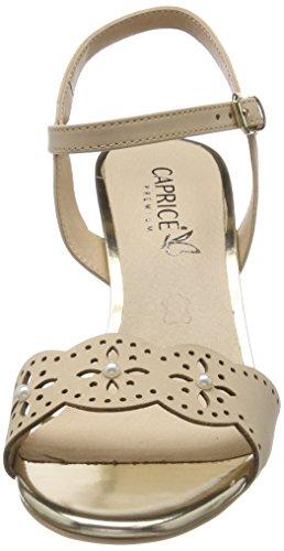 401 Caviglia Donna Nubuc Cinturino beige Beige 28303 Sandali Con Alla Caprice yvqOpPgwU
