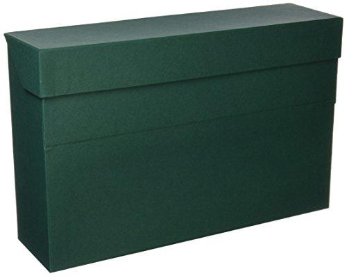Elba 100580262 - Caja de transferencia de cartón forrado con tela, 10 cm, color verde: Amazon.es: Oficina y papelería