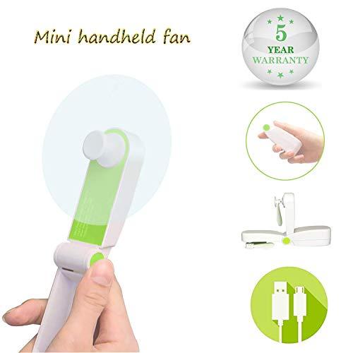 Solerconm Mini Handheld Portable Fan Small Personal Fan Battery Operated Pocket Fan Little Hand Fan 2 Speeds Hand Held Fans for Office,Outdoor,Hiking,Travelling