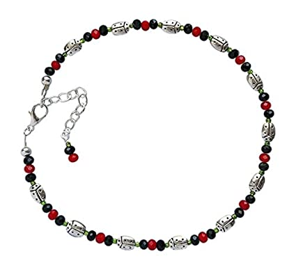 Amazon Ladybugs Beaded Anklet Kit Jewelry Making Supplies With