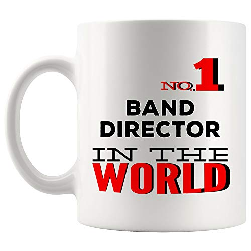 No1 Number One Band Director Mug Coffee Cup Tea MugsProud World Best Ever Greatest Coolest Thanksgiving | Singer Musician Music Choir Funny World Best Gift Musical Directors Thanksgiving Gifts
