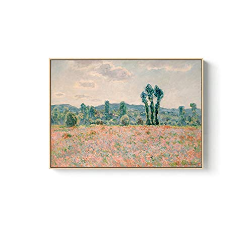 Claude Monet Canvas Painting Poster and Prints Fashion Modern Wall Art Pictures for Living Room Bedroom Dinning Room Cafe,80x60cm (no fe),K ()