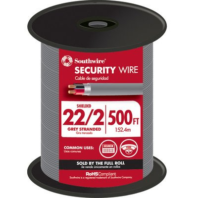 6000'' 22 Gauge 2 Wire Security Wire [Set of 500] by Southwire