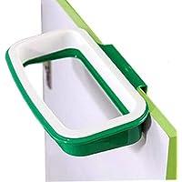 Pack of 2 Portable Trash Bag Holder Hanging Kitchen Cupboard Door Back Style Stand Trash Garbage Bags Storage Rack