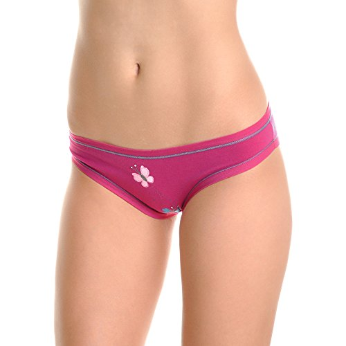 Angelina Cotton Bikini Panties with Glitter Butterfly Design (6-Pack), G6222_S