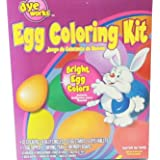 Dye Works Easter Egg Coloring Decorating Kit Color Dying Vibrant Bright Stands