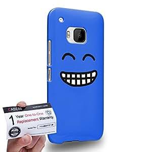 Case88 [HTC One M9] 3D impresa Carcasa/Funda dura para & Tarjeta de garantía - Art Fashion Grin Kawaii Emoticon Edition