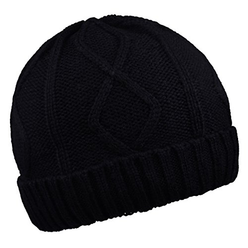 Warm Beanies Wool Fleece Lined Winter Knit Hats Thick Skull Caps for Men Women - Lined Fleece Wool