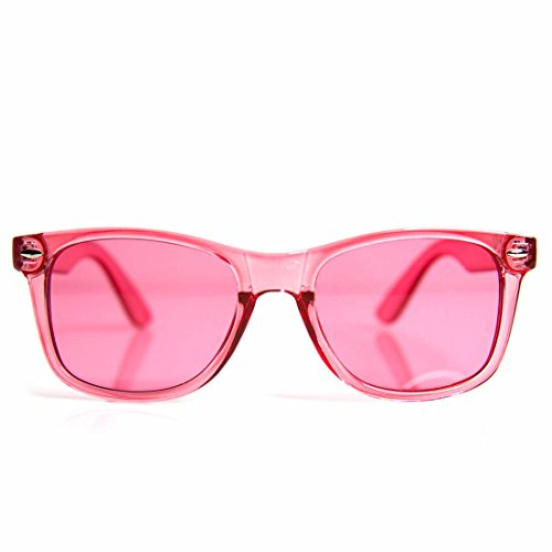 GloFX Pink Color Infused Diffraction Glasses – (Rose) Color Therapy Rave Glasses Chakra - Sunglasses Chakra