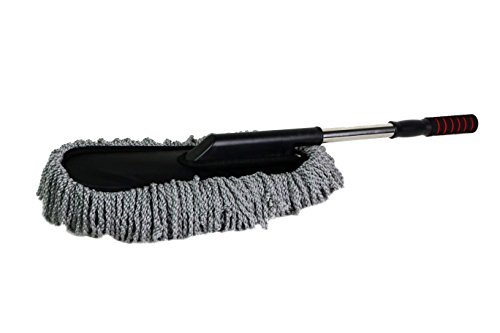 JS LifeStyle Car Microfiber Brush Detail Duster Vehicle Wash Brush Autospa For Interior And Exterior Extendable Telescope Handle