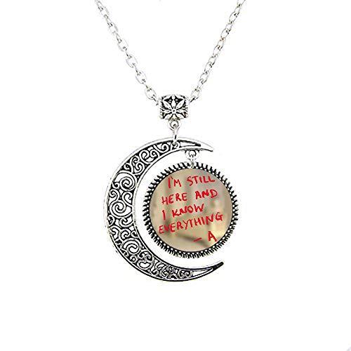Pretty little liars logo Copper Chain Women Choker Statement The Moon Necklace
