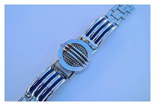 Communicator Blue Metal Ranger Bracelet Cosplay Prop Power - Warehouse Cosplay