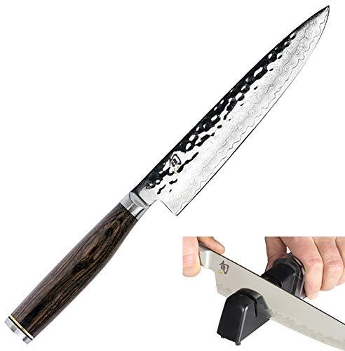 Shun TDM0701 Premier Utility Knife, 6-1/2-Inch & Kai Diamond and Ceramic...