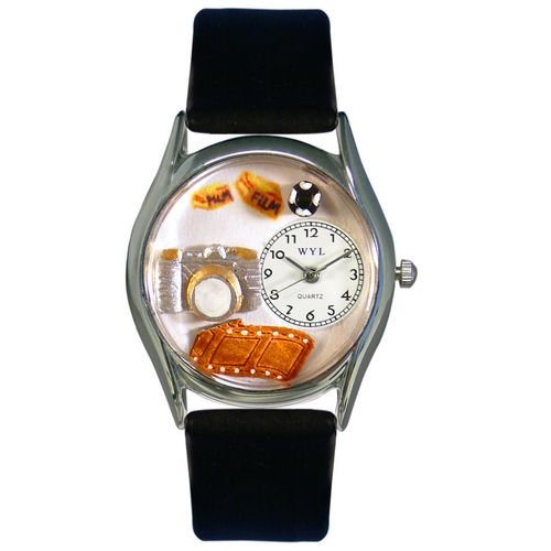 Whimsical Watches Women's S0620016 Photographer Black Leather Watch