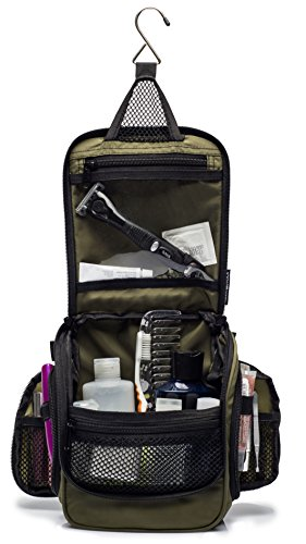 f9f6818bfdb Compact Hanging Toiletry Bag, Personal Organizer   Water Resistant, Mesh  Pockets   Sturdy Hook