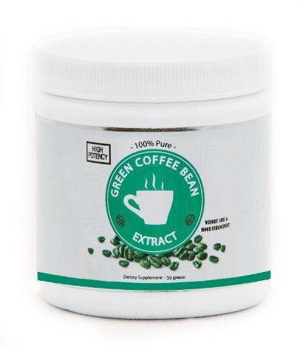 BodySuperior Green Bean Coffee vrac Extrait en poudre, 100 g, 125 portions (Contient 50% d'acide chlorogénique)