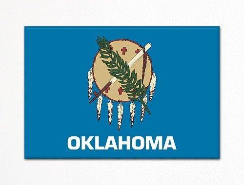 OKLAHOMA GIFT NEW /& FLAG USA SOUVENIR NOVELTY FRIDGE MAGNET