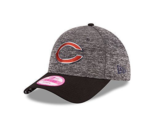 New Era NFL Chicago Bears 2016 Draft 9Forty Adjustable Cap, Heather Gray/Black, One Size