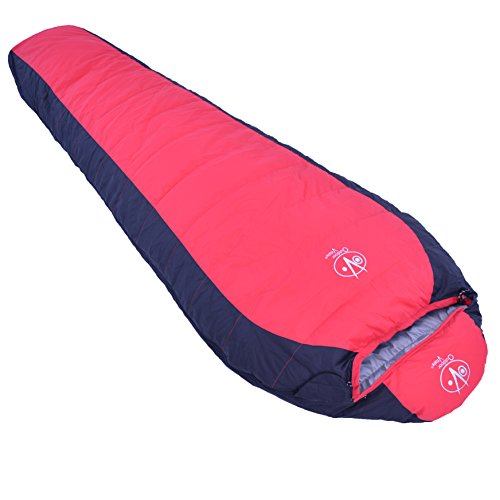Outdoor Vitals 15 Degree Down Sleeping Bag Mummy Style 3 Season Lightwieght (Red)