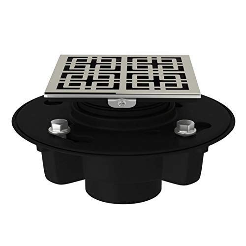 ROHL SDABS2/3-3142PN ABS 2'' X 3'' Drain Kit with 3142 Weave Decorative Cover Poished Nickel Finish, 2 x 3'', Polished
