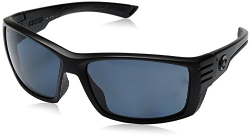 Costa Del Mar Cortez Sunglasses, Blackout, Blue Mirror 580 Glass - Glass Costa
