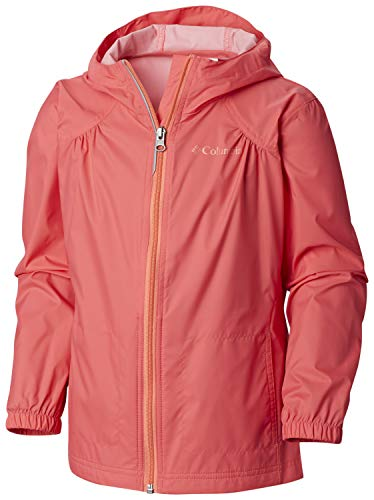 Columbia Girls' Big Switchback Rain Jacket, Bright Geranium Large