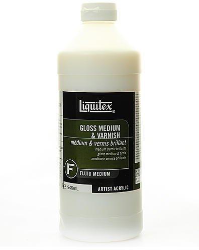 Liquitex Acrylic Gloss Medium & Varnish (32 oz.) 1 pcs sku# - Varnish Gloss Acrylic Liquitex