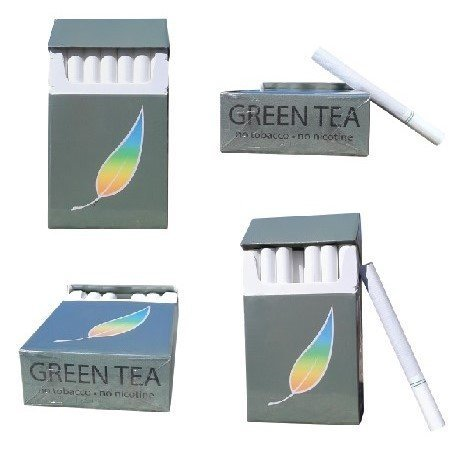 Billy 55 Green Tea Herbal Cigarettes  4 Pack Sampler  Non Tobacco   Non Nicotine Cigarette Alternatives    All 4 Packs Of Regular Flavor