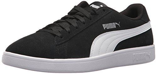 PUMA Men's Smash v2 Sneaker BlackWhiteSilver 12 M US