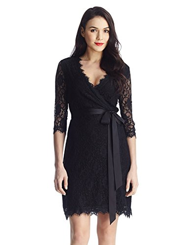 Lace Wrap Dress - 2