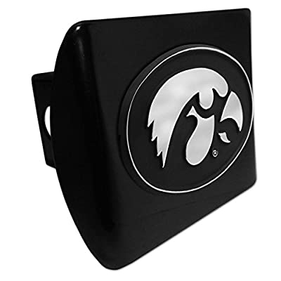 AMG University of Iowa Hawkeyes METAL Black Hitch Cover: Automotive