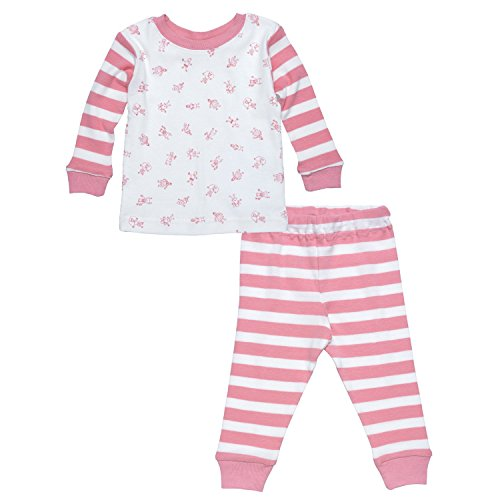 Under The Nile Little People 2-piece Long Johns (Pink) - 18 - The Under Pajamas Nile