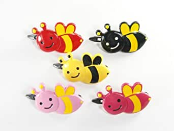 Little Bumble Bee - Baby Girl & Toddler Hair Clip - Hot Pink