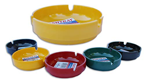 Willert Home Products Melamine Ashtray 5 Pack Mini 3.5