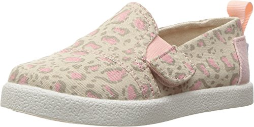 TOMS Kids Baby Girl's Avalon Slip-On (Infant/Toddler/Little Kid) Pale Pink Bob Cat Loafer - Toms Shoes Size 11