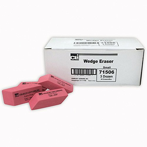 Charles Leonard CHL71506BN Synthetic Wedge Erasers - Pack of 5 by Charles Leonard Inc