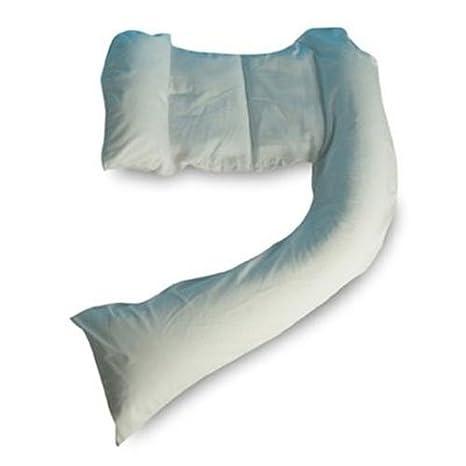 Dreamgenii – Funda de Almohada para maternidad y lactancia, Color Blanco