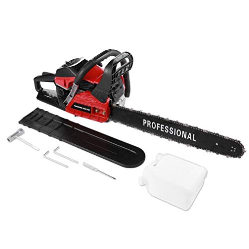 Blackpoolfa Chain Saw, High Efficient 20 inch 45cc/52CC Gasoline Powered Chainsaw Cutter for Sawing Cutting – Single Cylinder Air Cooled 2-Stroke (Chain Saw – A)