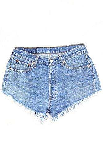 Al Stretti Donne Jeans Giorno Di Casual Pantaloncini Estiva Blu Le Solido Indossa Fiocchetti xIYdqI