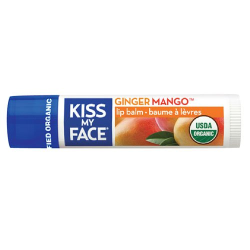 Kiss My Face Organic Lip Balm, Ginger Mango.15 Oz, 0.15 Ounce