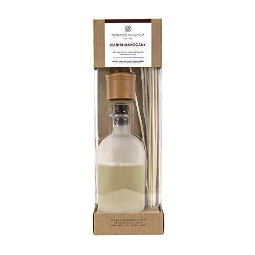 Chesapeake Bay Candle Reed Diffuser, Leather Mahogany